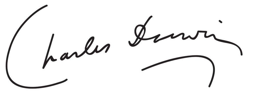 Signature of Charles Darwin