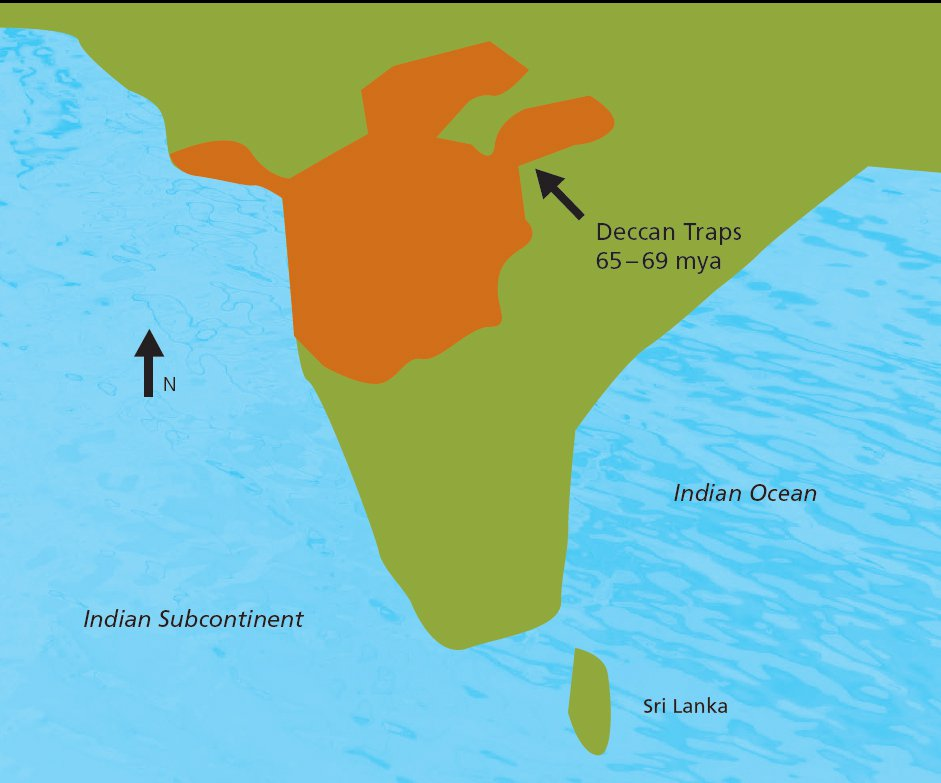 Map of Deccan Traps, India