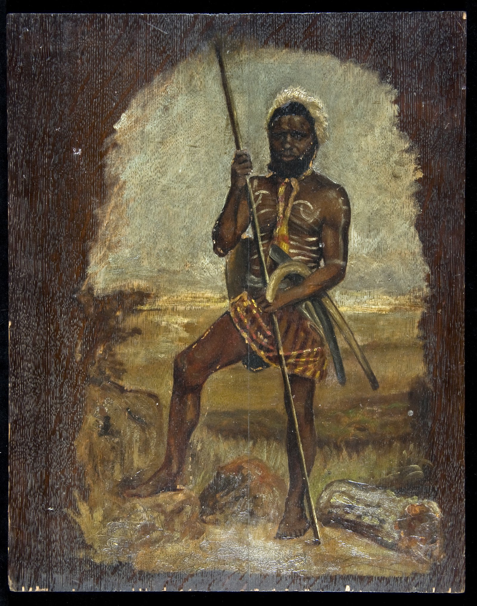 Indigenous Warrior - Painting : E67342