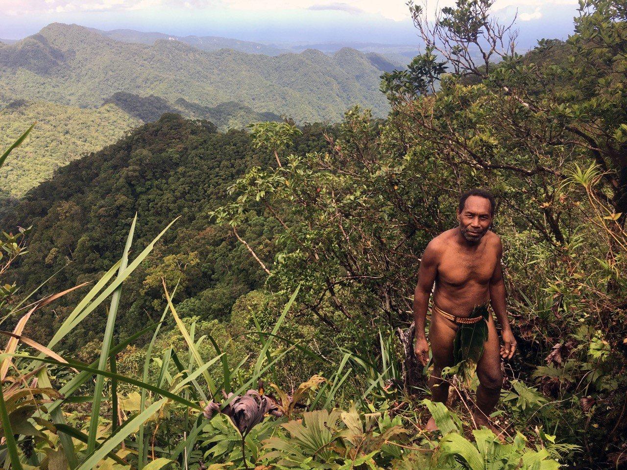 Chief Esau in the forests of Malaita, Solomon Islands