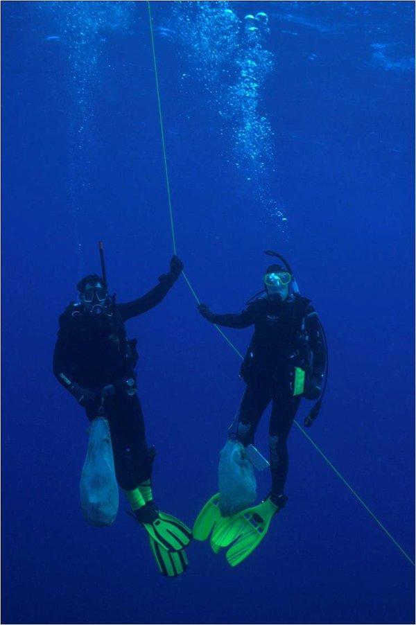 Mandy Reid and Stephen Keable at Kermadec Islands
