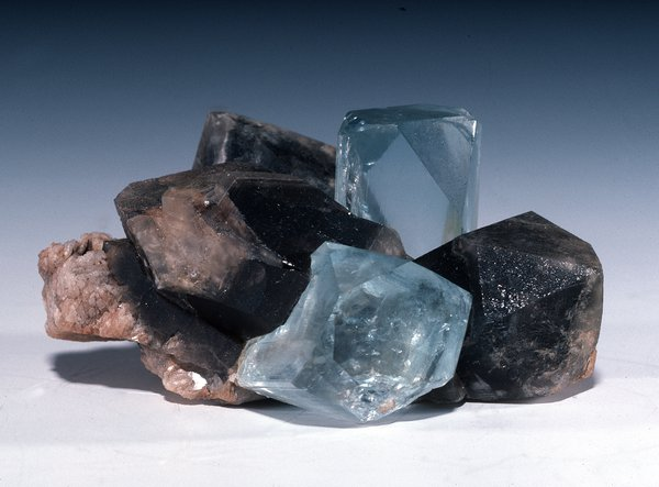Topaz with Smoky Quartz