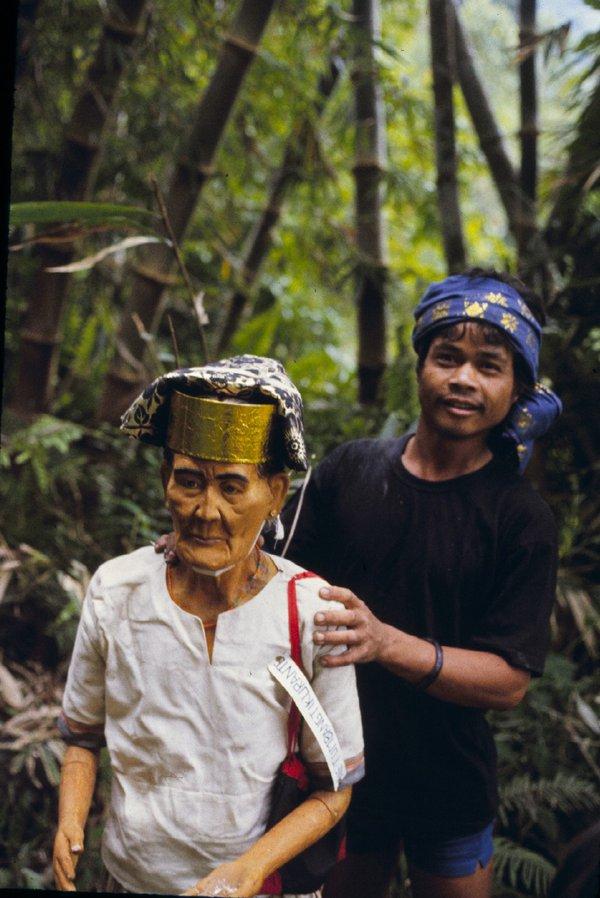Grandson and the tau tau of his Grandmother