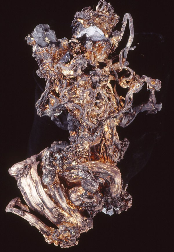 Silver with acanthite