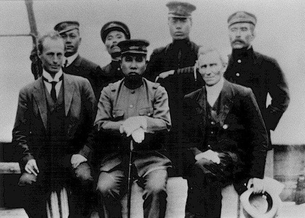 Shirase, Edgeworth David and Mawson, Sydney 1911
