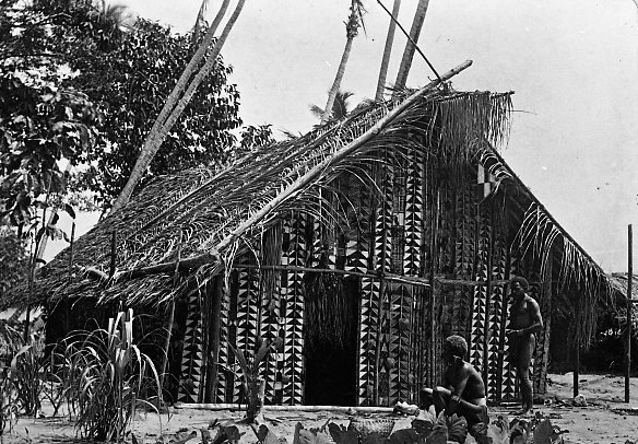 Mens house, Roviana, Solomon Islands