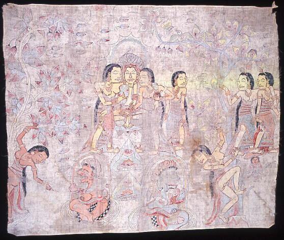 Arjuna Metapa (Arjuna Meditating): Balinese painting E74247A