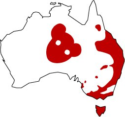 Drop Bear Distribution Map