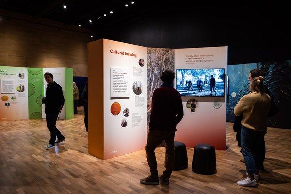 Visitors in Spark exhibition