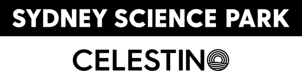 Sydney Science Park & Celestino logo [mono]