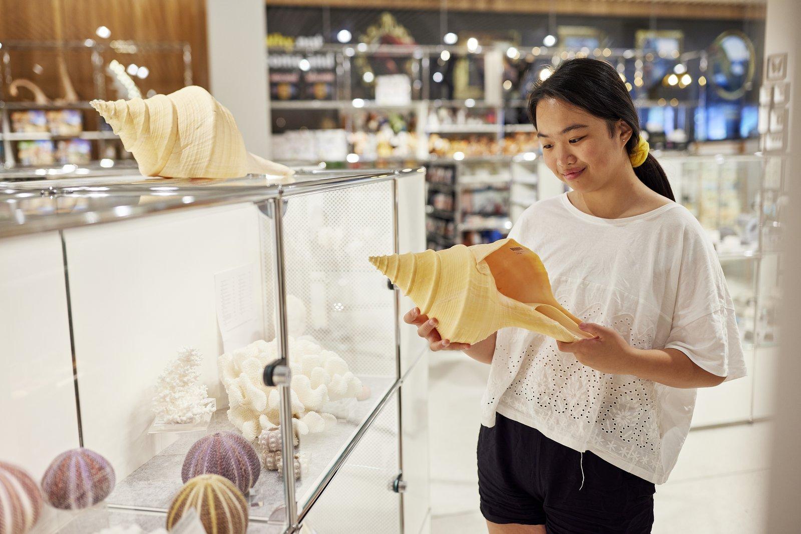 Teenager in Museum Shop