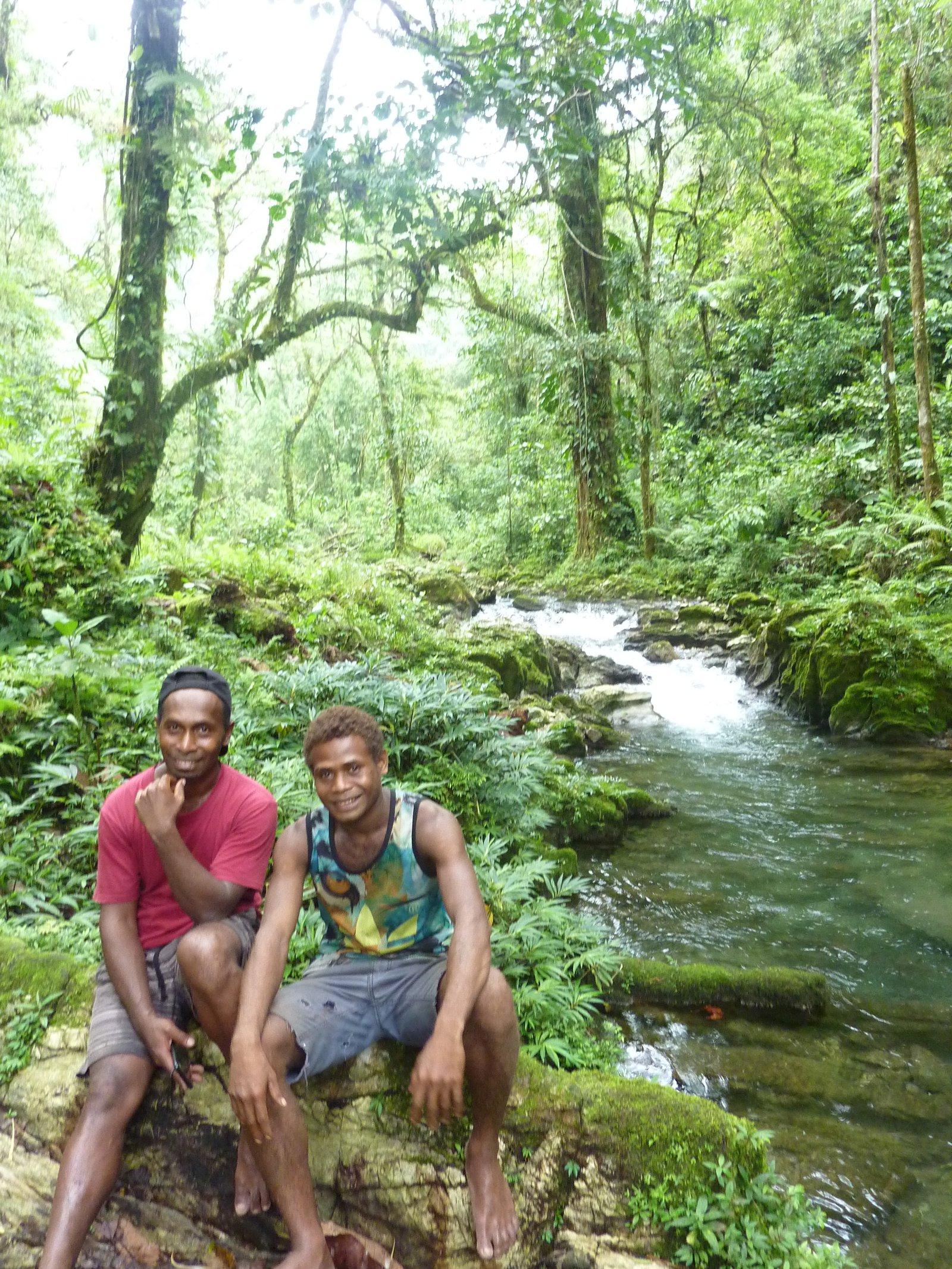 Tommy Esau (left), Malaita, Solomon Islands