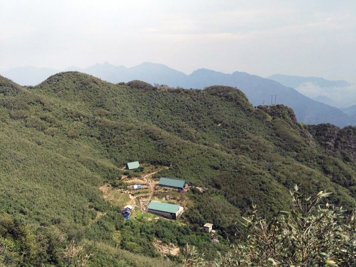 Tourist camp on Mount Fansipan, part of the formidable Hoang Lien Ranges in northern Vietnam.
