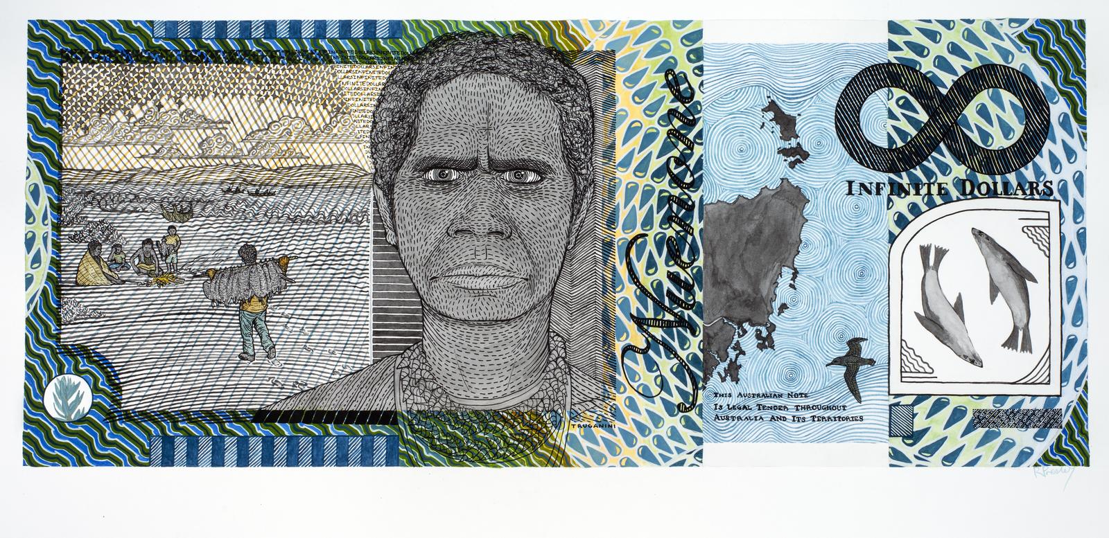 Truganini (c 1812-1876) Blood Money – Infinite Dollar Note – Truganini Commemorative 2011