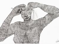 Weaving Woman drawing