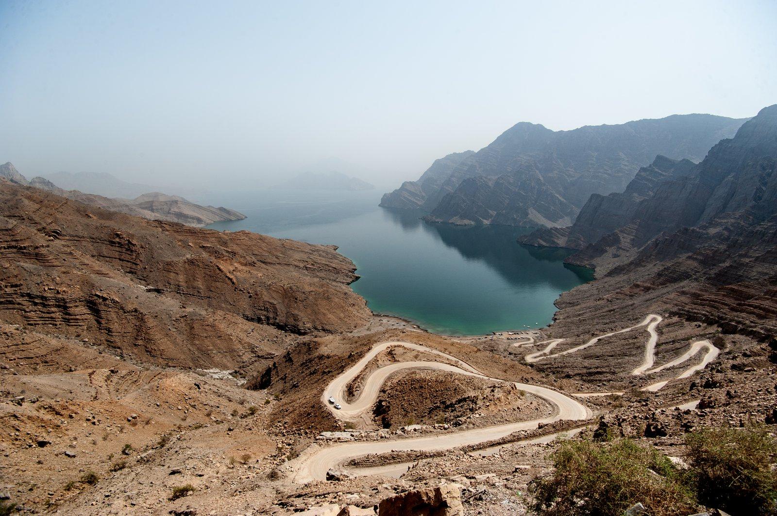 Winding road near Khasab, Oman