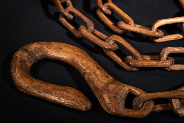 Brungle Wooden Chain, Spinner and Hook  in Unsettled exhibition