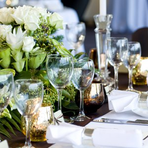 Wedding table setting in the Australian Museum Terrace