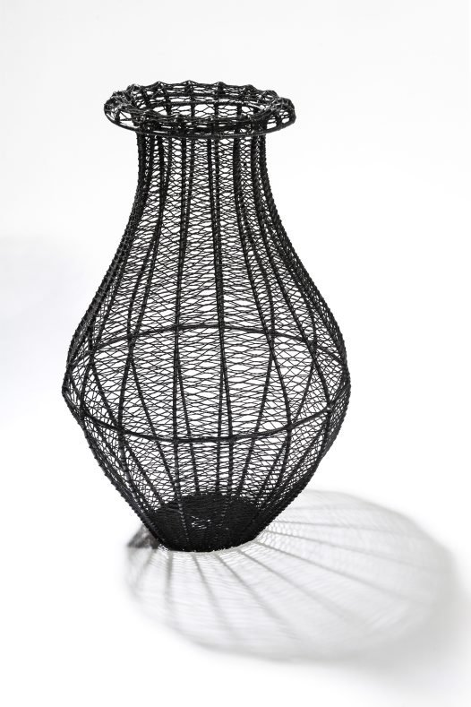 Bilum-ware basket sculpture