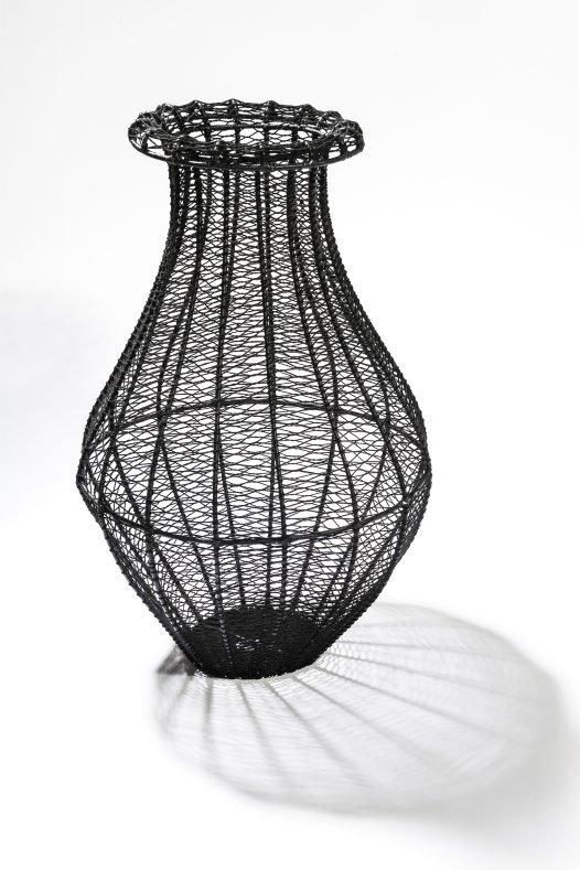 Bilum-ware basket sculpture