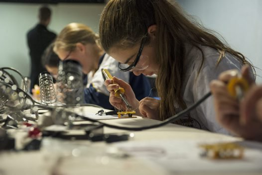 Students appreciate Science and technology with Madlab's imaginative electronic gadgets
