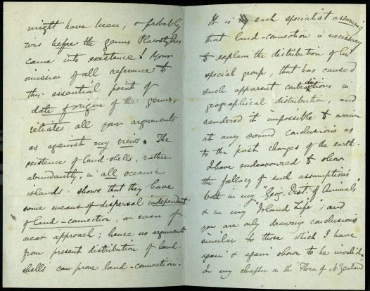 Alfred Russel Wallace to Charles Hedley Oct 1892 pp2-3
