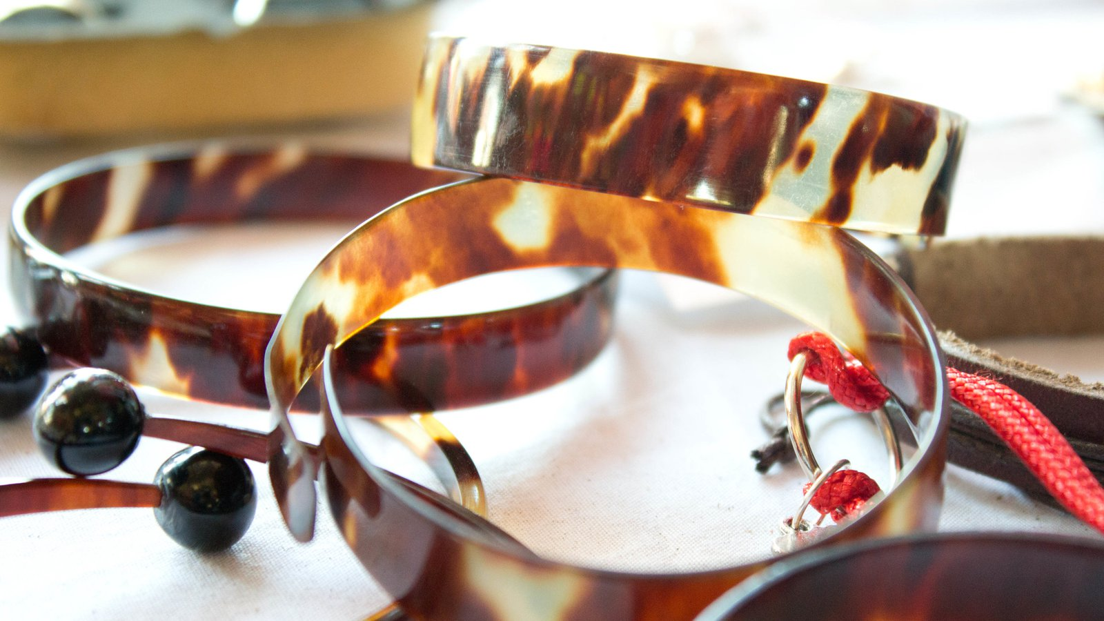 Tortoiseshell bracelets