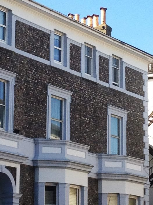 Example of building with flint. Brighton, United Kingdom.