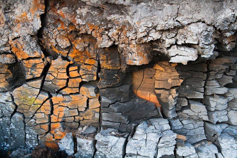 Clay wall close up