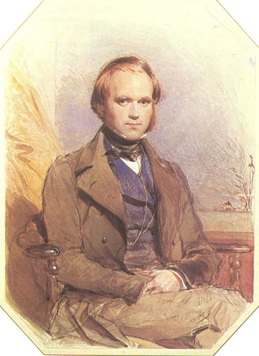 Painting of Charles Darwin by artist George Richmond