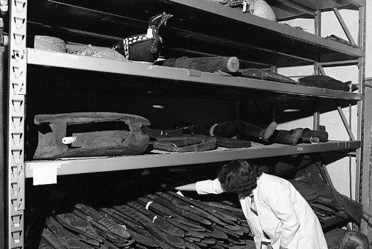 Off-site storage of part of the Ethnological Collection, Rushcutters Bay, 1982