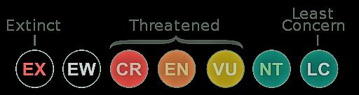 Conservation status symbols