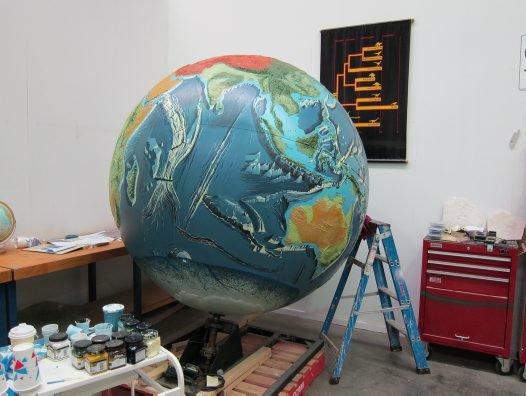 Globe in Deep Oceans prep shop 25th Jan