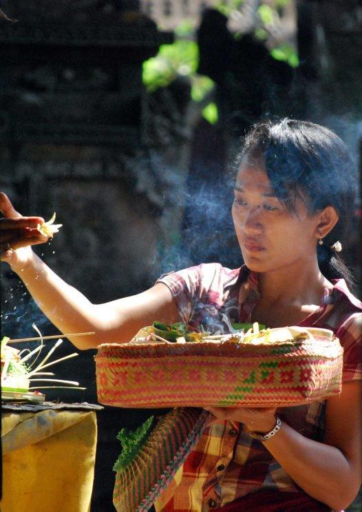 Offering at Ubud Market, Bali