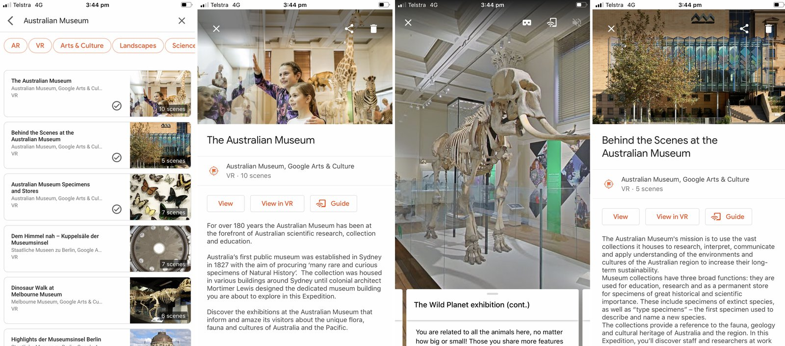 Google Expeditions mobile app