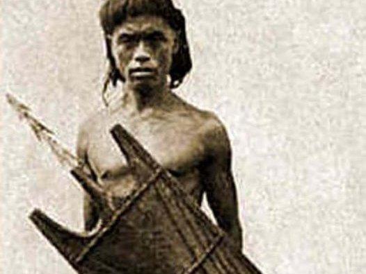 Austronesian warrior from the Luzon's Cordillera