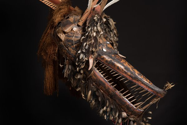 Crocodile mask from Mer
