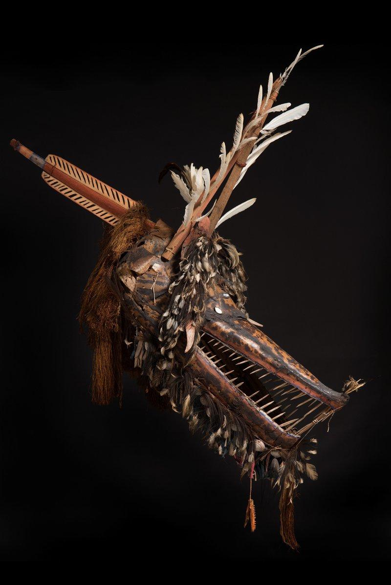 Crocodile mask from Mer
