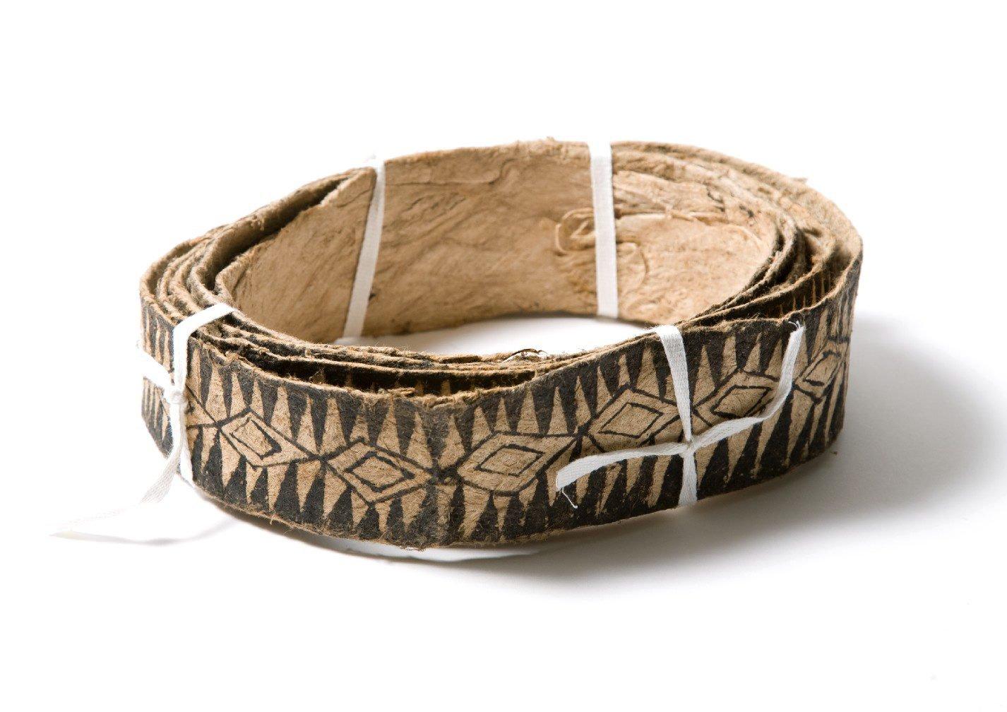 Barkcloth belt, Vanuatu.