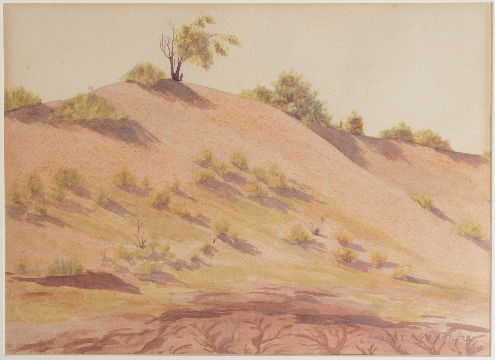 Watercolour painting by Albert Namitjira