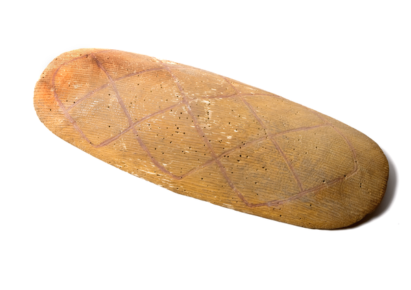 E078182 shield, wood / ochre, western Queensland, Australia.