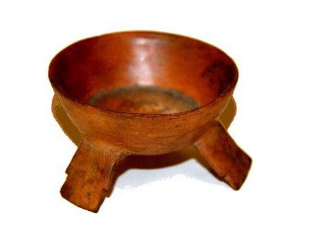 Miniature three-leggedceramic bowl, Mexico.