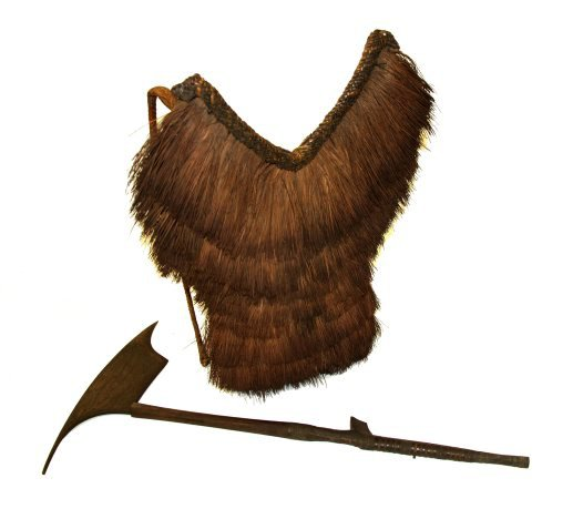 Headhunting basket and axe from Luzon.