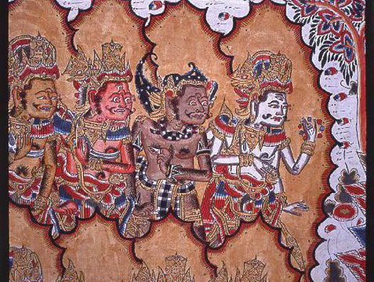 Balinese Painting: by Mangku Mura