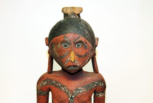 Man - Wooden Figure, Manus Island: E85138 A