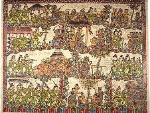 Balinese Painting - Puputan: E94626