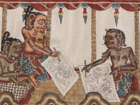 Balinese Painting: E94643 bc
