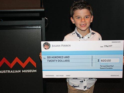 Fundraising champion Julian Perros