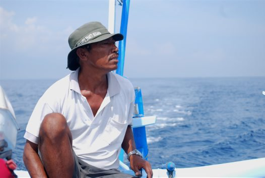 Nyoman, a fisherman from Lovina, Bali.