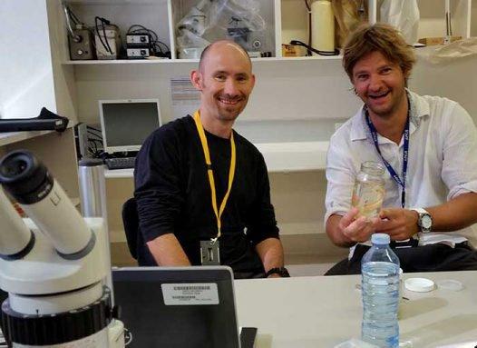 John Pogonoski (left) and Jan Poulsen